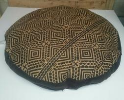 "Ashford Court Leather Patch 36"" round Dog Bed Cover Only Abs"