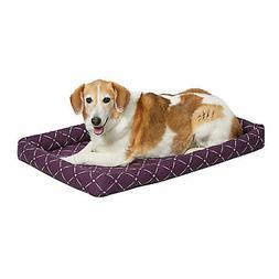 Quiet Time Ashton Plum Bolster Dog Bed