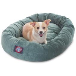 32 inch Azure Villa Collection Micro Velvet Bagel Dog Bed By