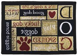 Park B Smith Ltd I Love Dogs Tapestry Indoor/Outdoor Area Ru