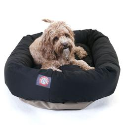 "Majestic Pet Bagel Dog Bed size: 32""L x 23""W x 7""H, Black"