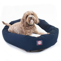 "Majestic Pet Products Bagel Dog Bed size: 32""L x 23""W x 7""H,"