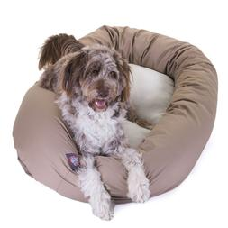 "Majestic Pet Products Bagel Dog Bed size: 52""L x 35""W x 11""H"
