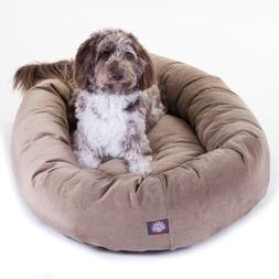 "Majestic Pet Extra-Large 52"" Bagel Dog Pet Bed MicroSuede -"