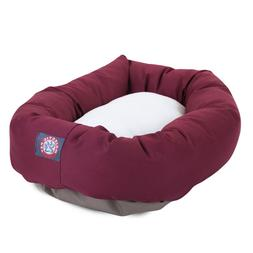 "Majestic Pet Products Bagel Dog Bed size: 40""L x 29""W x 9""H,"
