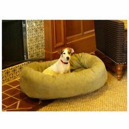 Majestic Pet Bagel Dog Pet Bed - Suede