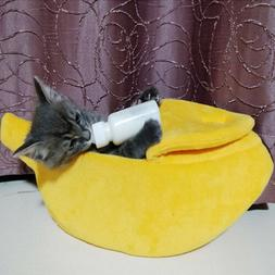 Banana Shape Dog Cat House Soft Warm Kennel Sleeping Bed Hou