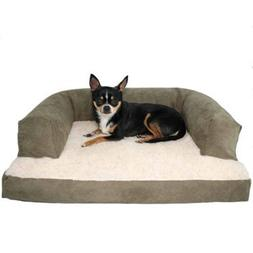 Beasley's Couch Dog Bed Pet Couch Polysuede Sage - Medium -