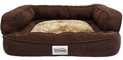 Bed Dog Sofa Pet Orthopedic Corduroy Plush Couch Memory Foam