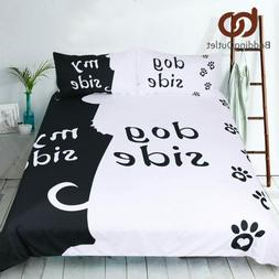 Bedding Duvet Cover Set Dog Lovers Bed Quilt Covers Pillowca