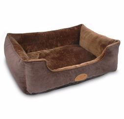 Best Pet Supplies RECTANGULAR BED DARK AUBURN Dog Cat- Small