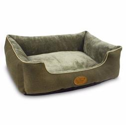 Best Pet Supplies RECTANGULAR BED OLIVE GREEN Dog Cat Soft N