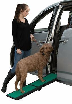 Pet Gear Bi-Fold Travel Lite Dog Pet Ramp with supertraX Bla