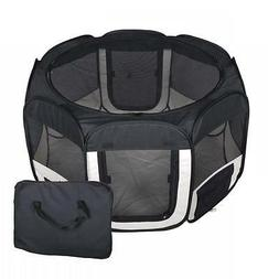 New Small Black Pet Dog Cat Tent Playpen Exercise Play Pen S