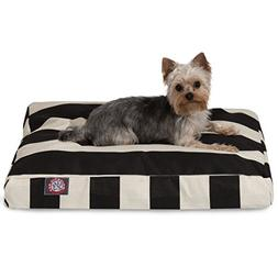 Black Vertical Stripe Small Rectangle Indoor Outdoor Pet Dog