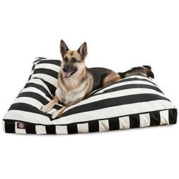 Black Vertical Stripe Extra Large Rectangle Pet Bed