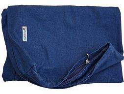 Dogbed4less 47X29X4 Inches Extra Large Blue Color Denim cott