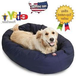 """BLUE - Donut Bagel Animal Pet Dog Bed - 40"""" Large 360° Bols"""