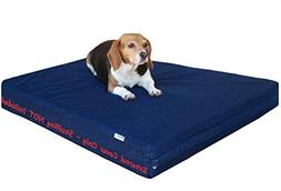 Dogbed4less 37X27X4 Inches Medium Large Blue Color Durable D