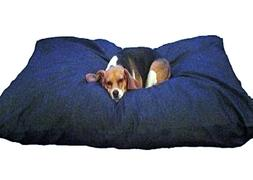 Dogbed4less XXL Waterproof Denim Memory Foam Shredded Dog Be