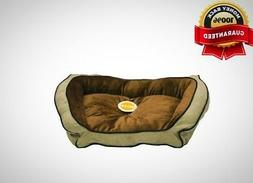 "K&H Pet Products Bolster Couch Pet Bed Large Mocha/Tan 28"" x"