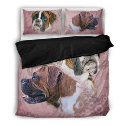 Boxer Dog King Size Duvet Bed Set