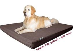 Dogbed4less 55X37X4 Inches Brown Color Denim Jean Dog Pet Be