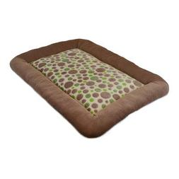 Precision Pet Low Bumper Corduroy Bed, Size 4000, Green Spot