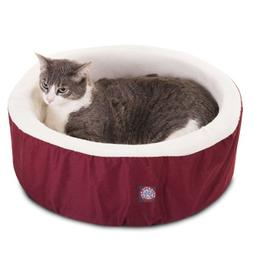 16 inch Burgundy Cat Cuddler Pet Cat Bed By Majestic Pet Pro