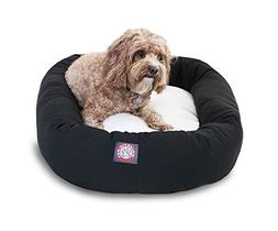 32 inch Burgundy & Sherpa Bagel Dog Bed By Majestic Pet Prod