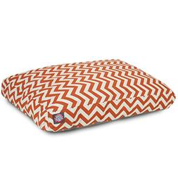Burnt Orange Chevron Large Rectangle Indoor Outdoor Pet Dog