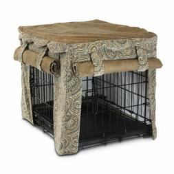 Snoozer Cabana Pet Crate Cover, Small, Sicilly/Coffee