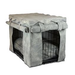 Snoozer Cabana Pet Crate Cover with Pillow Dog Bed, Medium,