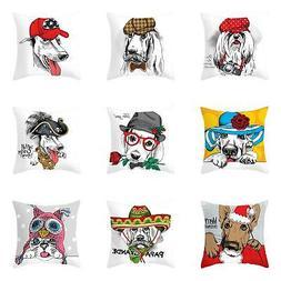 Cartoon Dog Cat Animal Pillow Case Cushion Cover Sofa Bed Ho