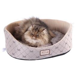 Armarkat Cat Bed - Pale Silver & Beige