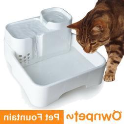 Cat Dog Water Fountain Dispenser Filter Auto Pets Feeder Dri