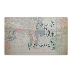 "KESS InHouse Catherine Holcombe ""Journey"" World Map Artistic"