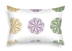 Circle Throw Cushion Covers 18 X 26 Inches / 45 By 65 Cm For