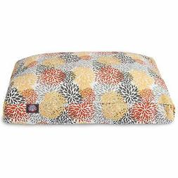 Citrus Blooms Outdoor Indoor Rectangle Dog Bed by Majestic P