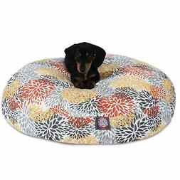Citrus Blooms Outdoor Indoor Round Dog Bed by Majestic Pet