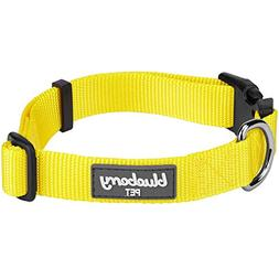 Blueberry Pet 32 Colors Classic Dog Collar, Blazing Yellow,