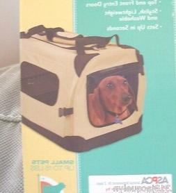 ASPCA COLLECTION SMALL DOG PORT--A--CRATE-TAN COLOR