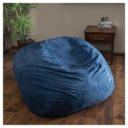 Large XL Size Blue Color Comfort Suede Kids Bean Bag Chair C