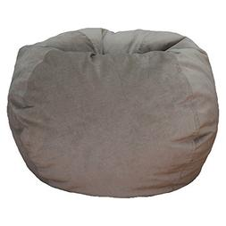 Large XXL Size Grey Color Comfort Suede Bean Bag Chair Cover