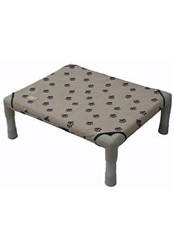 Go Pet Club COT-32P Pet Cot Bed, 32-Inch, Paw Print