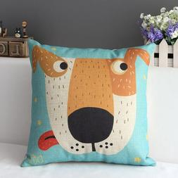 Decorbox Cotton Linen Square Decorative Cushion Cover Sofa T