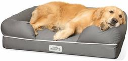 Pet Lounge Bed Couch Medium Large Dog Solid Memory Foam Base