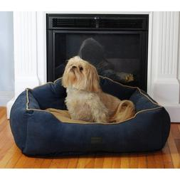 Courtier Royal Couch Dog Bed Size: Large , Color: Navy