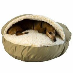 Cozy Cave Hooded Dog Bed Color: Khaki, Size: Large