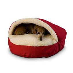 Cozy Cave Pet Bed in Poly Cotton Size: Small , Fabric: Red